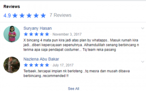 testimoni review di fb